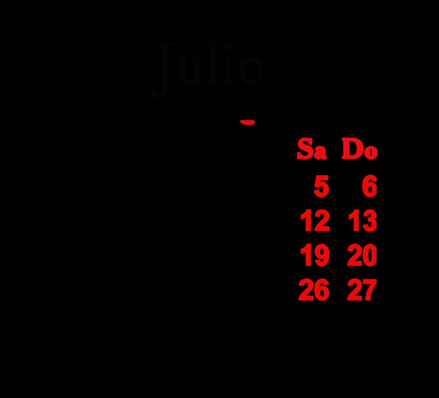 Calendario Mes de Julio 2014 Calendario 2014 Mes x Mes