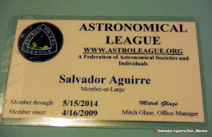 Miembro de la Astronomical League.