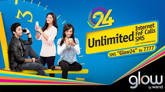 Warid Glow 24 Unlimited FnF Calls