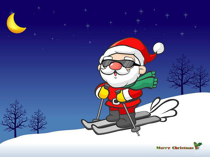 Snowman and christmas wallpaper funny santa wallpapers