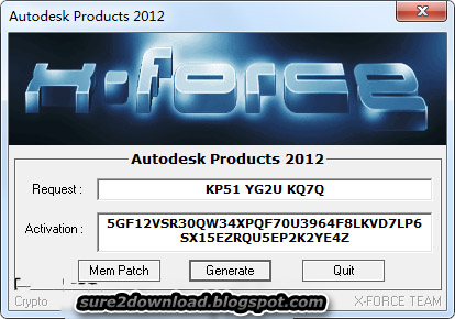 AutoCAD 2012 KeyGen (Autodesk Products 2012)