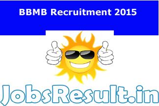 BBMB Recruitment 2015