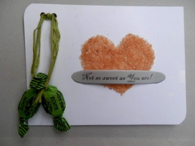 Valentine sugar card