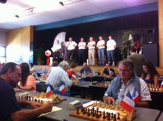 Échecs à Avoine : la salle de jeu avant le lancement de la 1e ronde - Photo © Chess & Strategy