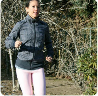 lululemon back on track jacket and pig pink stay on course fleece running tights