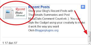 Widget Recent Posts Keren Dari Blogger
