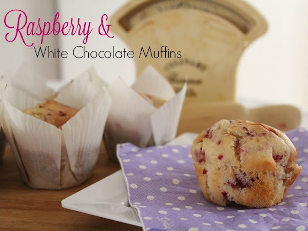 Raspberry & White Chocolate Muffins