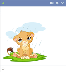Cartoon lion for Facebook