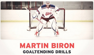 Marty Biron powerplay goalie drills