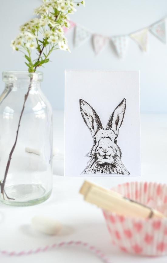 Free bunny printable