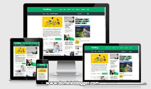 FlatMag Responsive para blogger