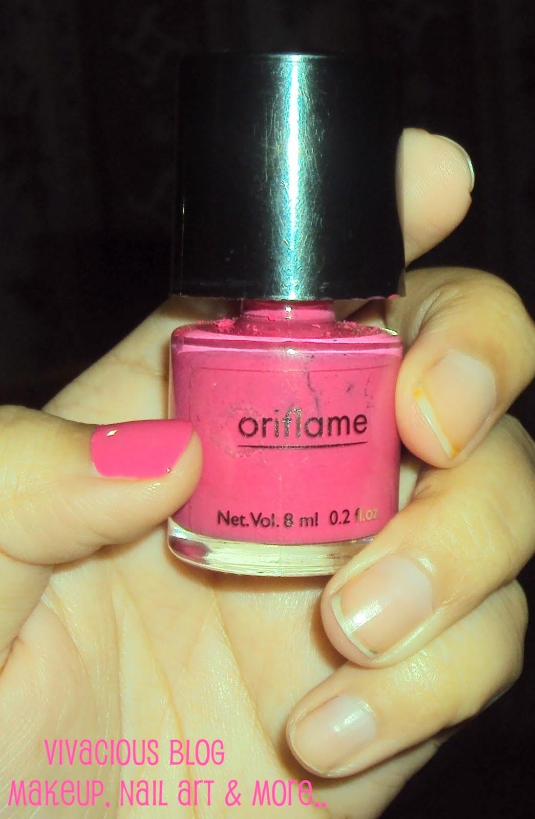 Vivacious Blog: Oriflame Pure Color Nail Polish Intense Pink