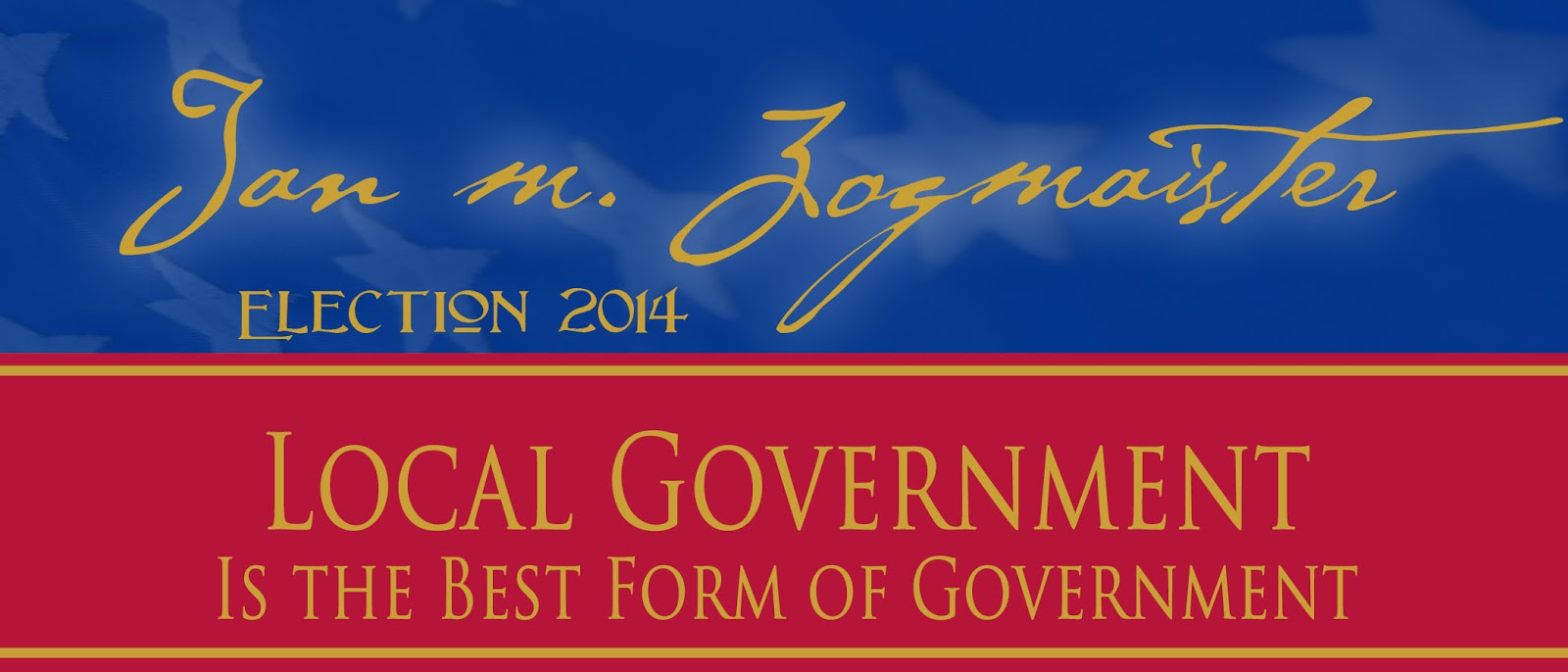Local Government Best Form of Government - Jan Zogmaister