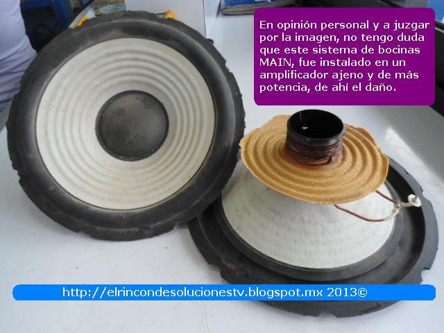 Sistema de Bocinas Main, equipo de audio Sony modelo HCD-GNX880, daño