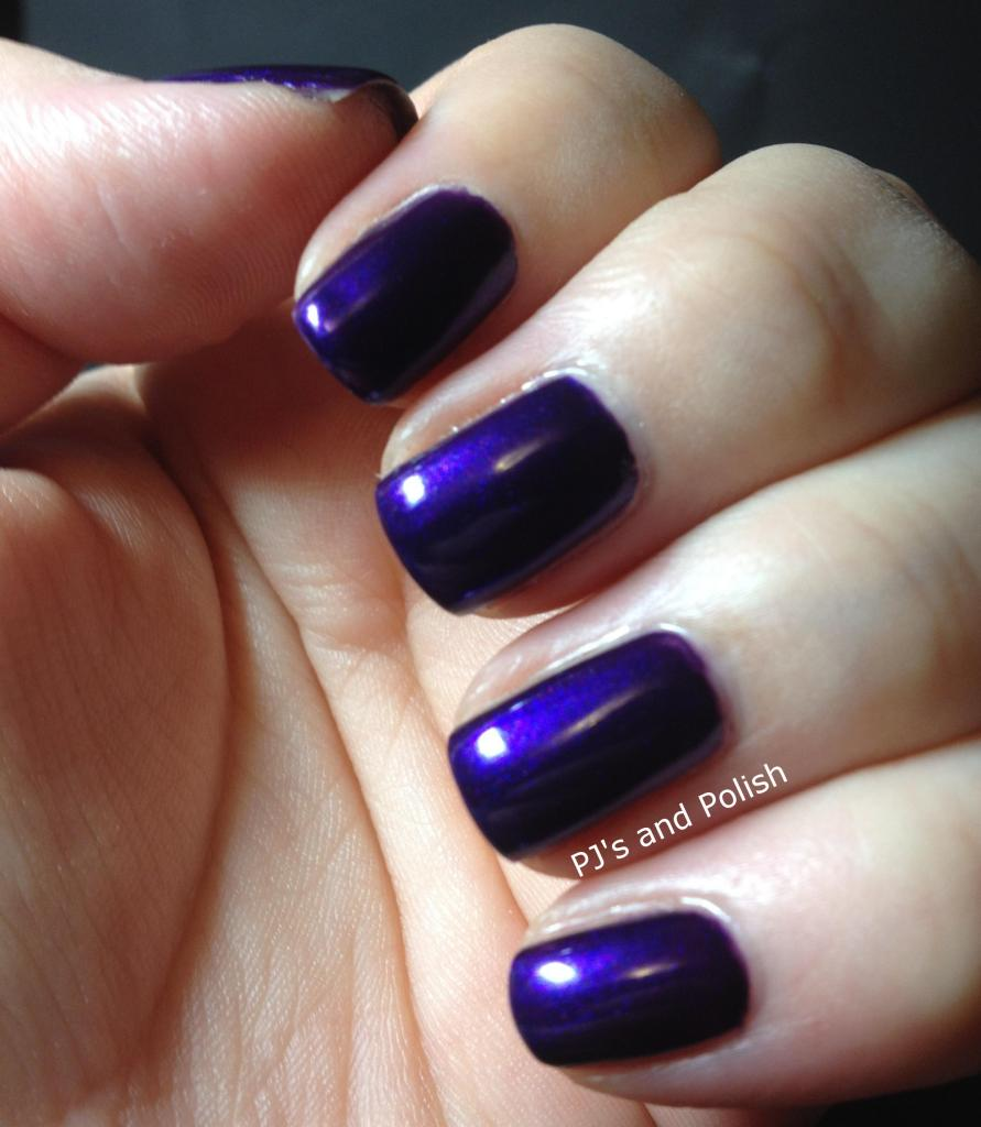 Swatch Review Zoya Belinda Metallic Purple Zenith Collection