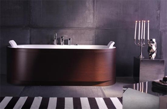 Baño De Tina Concepto:Diseño Minimalista de Bañera de Madera por Blu Bleu : Casas