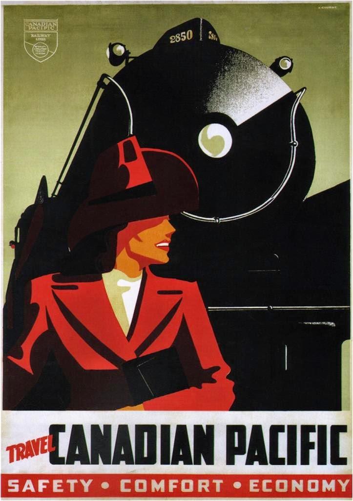 ART & ARTISTS: Vin... Vintage Train Poster