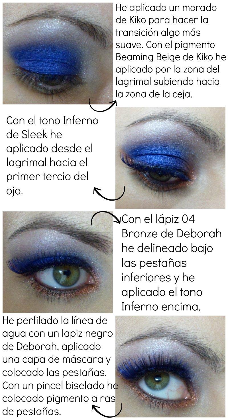 Maquillaje Navidad: azul y bronce