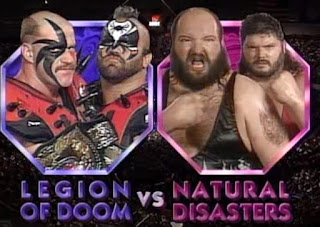 WWF ROYAL RUMBLE 1992 - Tag Team Title Match - The Legion of Doom (Hawk & Animal) defended against The Natural Disasters (Earthquake and Typhoon)
