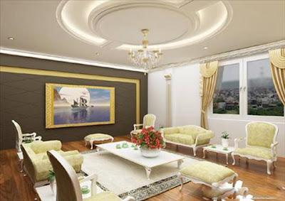 Các mẫu trần thạch cao phòng khách
