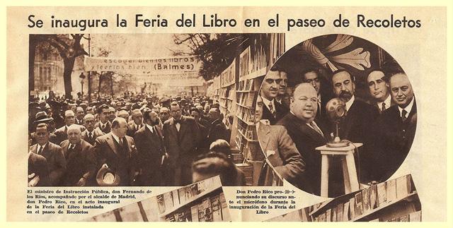 Inauguración Feria del Libro en el Paseo de Recoletos