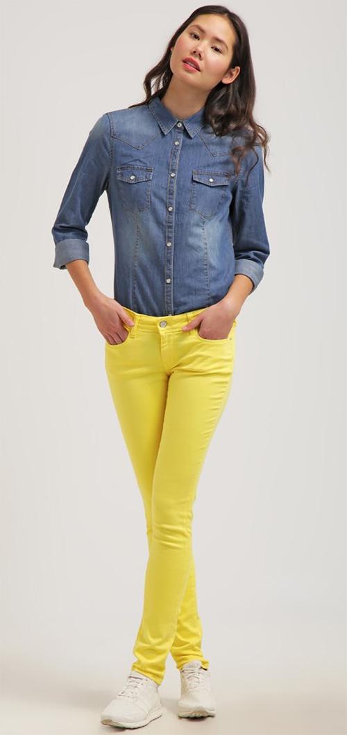 Jean femme Skinny jaune Cimarron