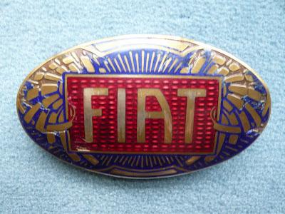 FIAT vinatge  U.S. made vintage special radiator emblem badge stemma