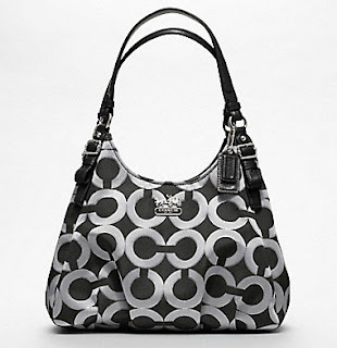 Coach Madison Maggie Shoulder Bag In Op Art Multi Sateen Fabric 54