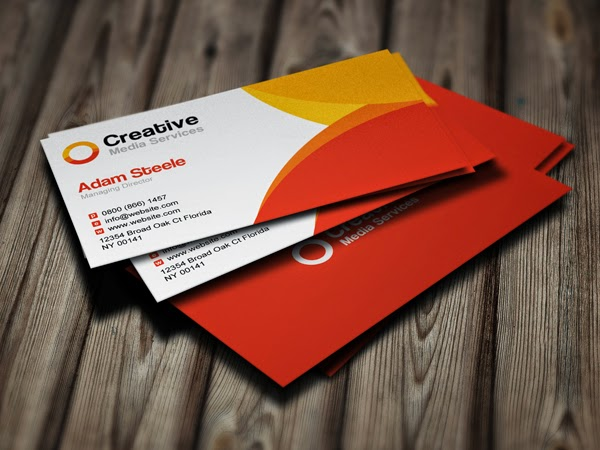 Free Creative Media Business Cards PSD