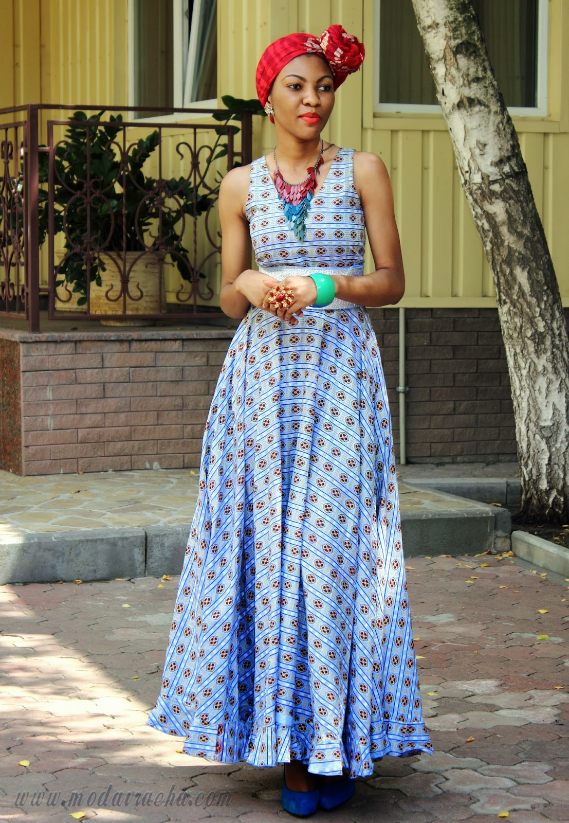 African prints long dress for Traditional wedding dress styles