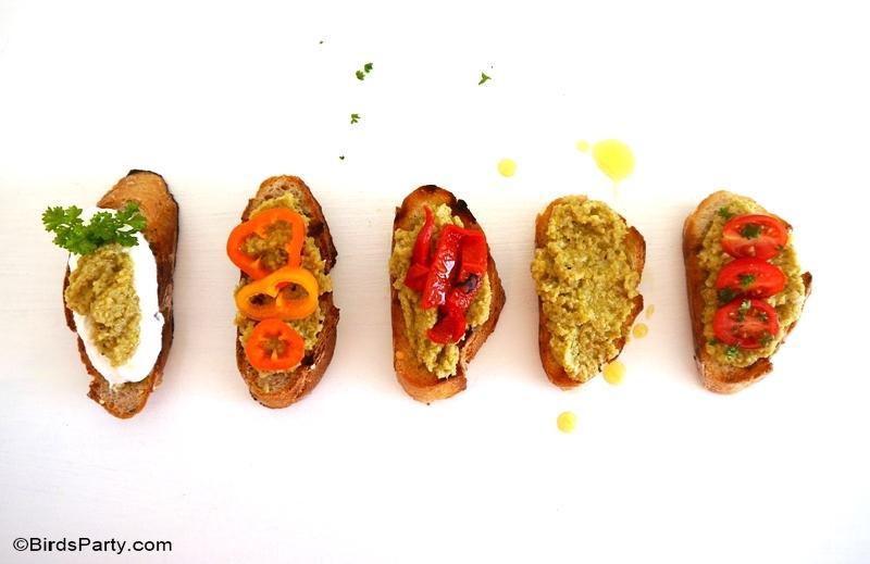 Recette Apéritif Facile: Crostini à la Tapenade