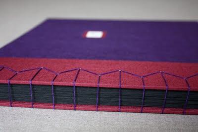 Purple handmade book for men
