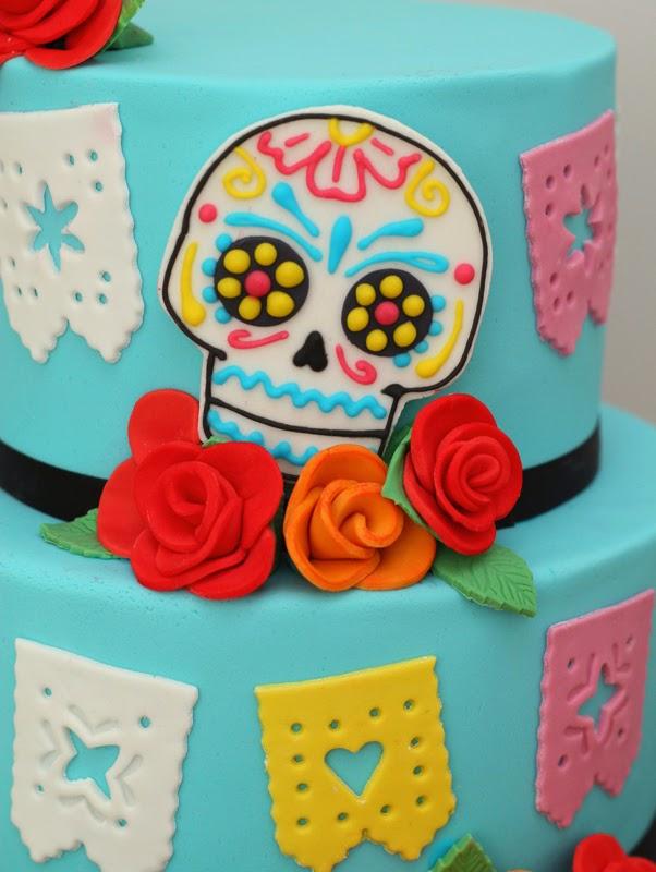 butter hearts sugar: Dia de los Muertos Wedding Cake