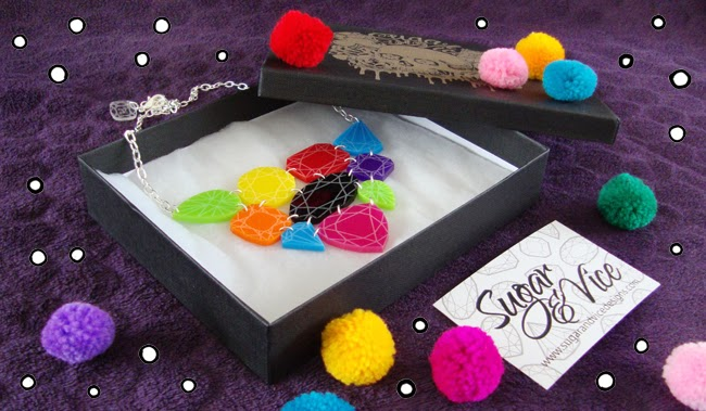 sugar and vice, perspex jewellery, giveaway