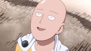 Uśmiechający się Saitama - bohater One Punch Man