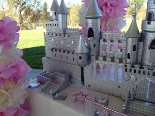 silver castle centerpiece