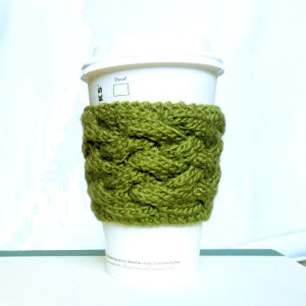 Woven Cable Coffee Cup Sleeve Pattern - Purl Avenue