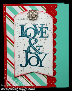 Merry Little Christmas Card Kit Card by UK Stampin' Up! Demonstrator Bekka Prideaux