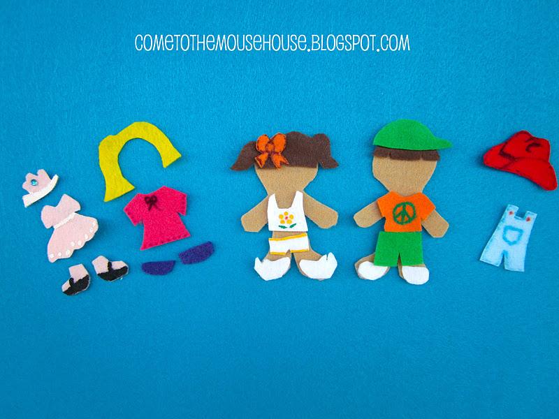 Felt Board Tutorial Series: Felt People and Clothing Templates ...
