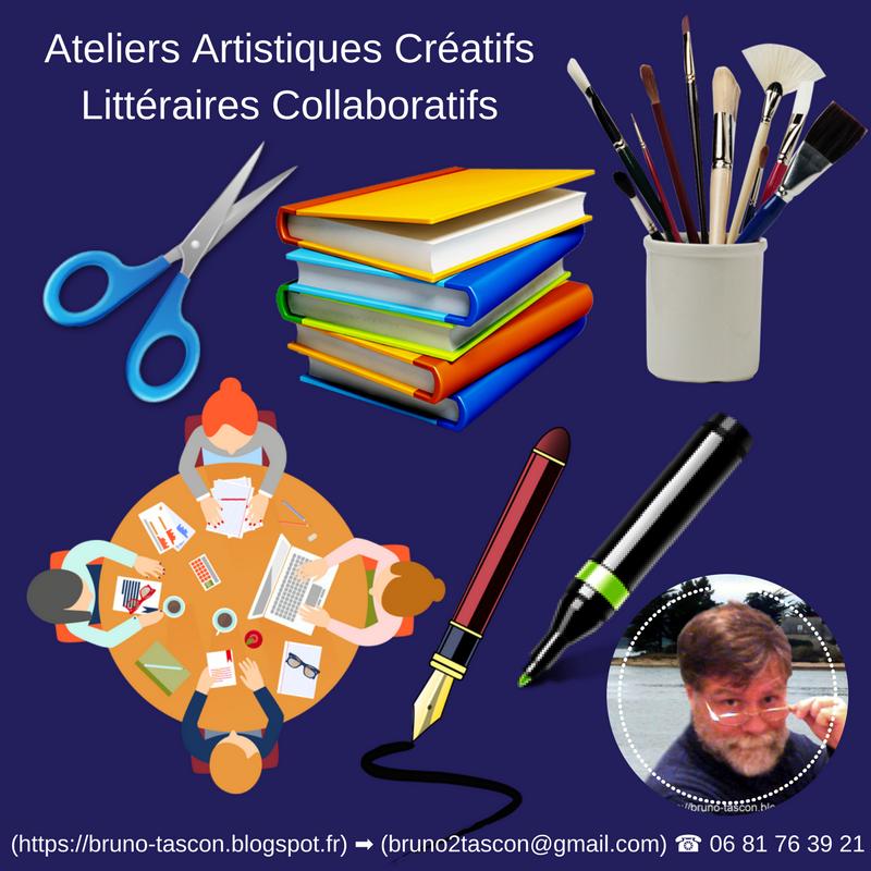 Ateliers Artistiques Créatifs Littéraires Collaboratifs VANNES LORIENT AURAY