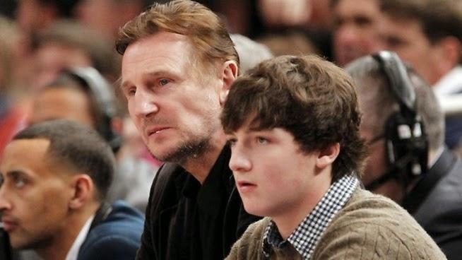Liam John Neeson and his Son