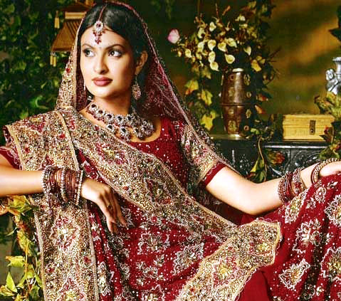 Indian hindu wedding dress