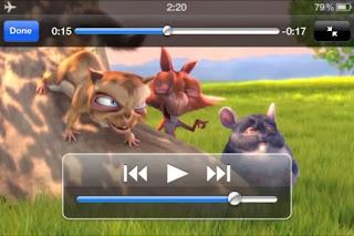 صورة اثناء تشغيل الفيديو علي الايفون