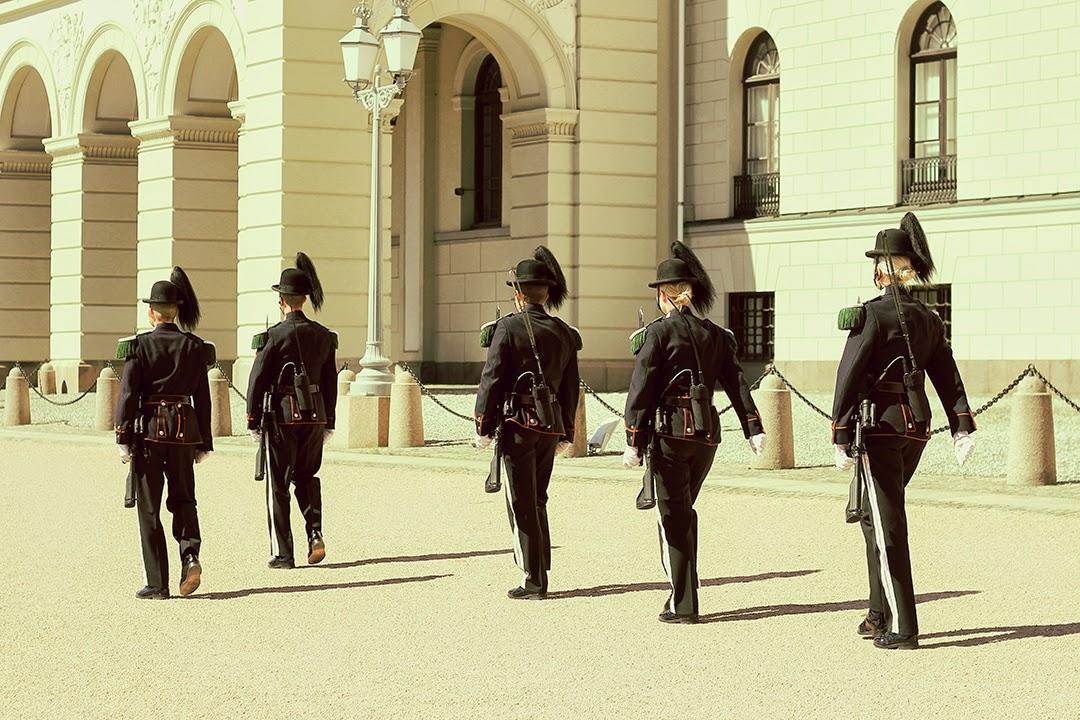 Gwardziści Pałac Królewski Oslo