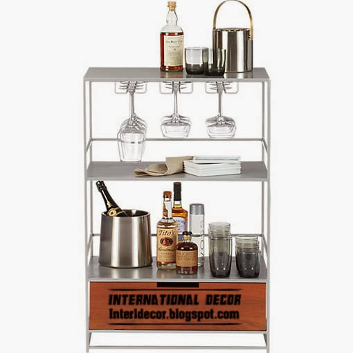 full bar cabinet, Bar cabinets and Wine racks for modern home