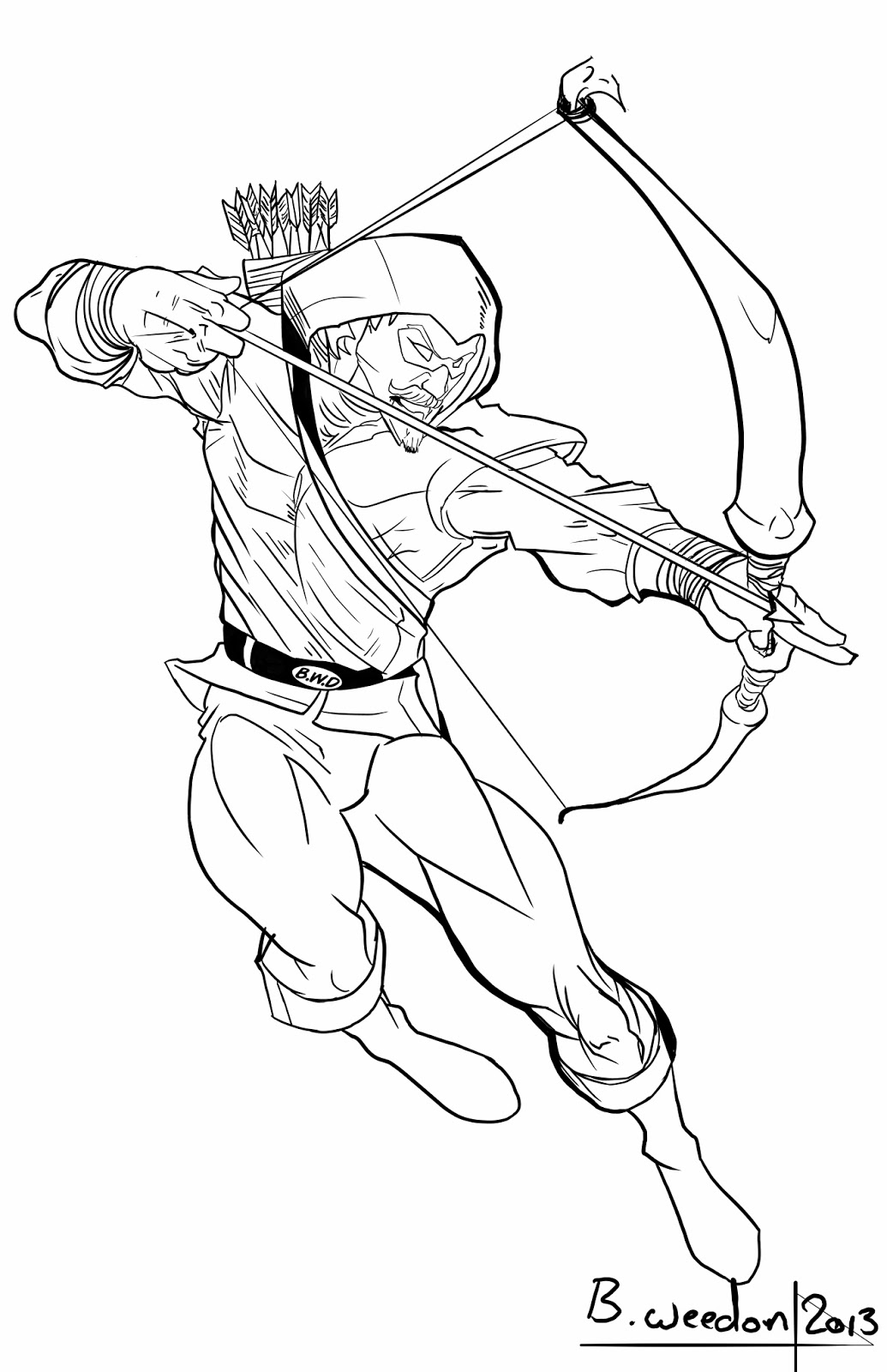 Green Arrow Superhero Coloring Pages Coloring Pages
