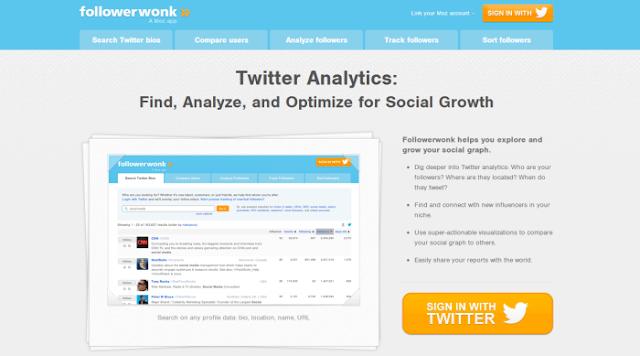 Followerwonk (Buscador de usuarios de Twitter, comparador  entre 2 o 3 cuentas, analizador y ordenador de seguidores)