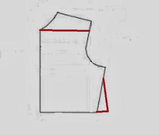 modificación patrón blusa