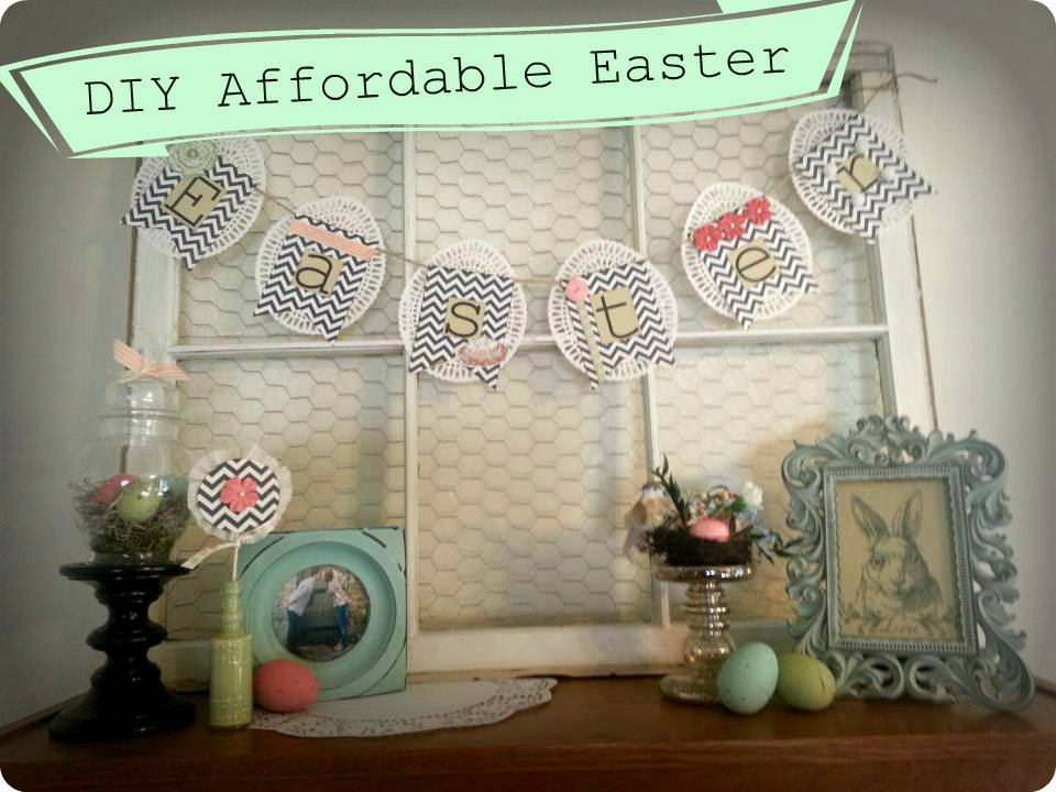 Mint of my life decorate for easter on a budget