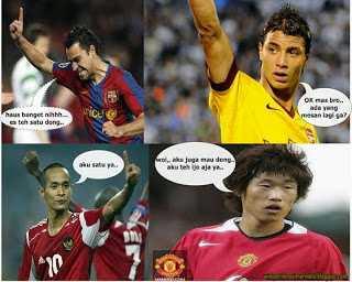 Gambar Pemain Bola Sepak Paling Lucu